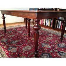old edwardian walnut pull out table london gallery canapés et