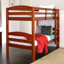 Amazoncom WE Furniture Solid Wood Twin Bunk Bed White Kitchen - Images for bunk beds
