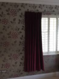 Burgundy Velvet Curtains Fabric Handmade Burgundy Velvet Curtains In Liphook