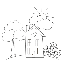 home garden coloring pages for kids ga printable gardening home