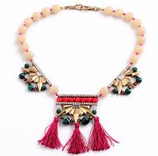 boho bib necklace images Boho statement pink bead roseo tassel bib necklace wholesale jpg
