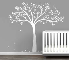 White Tree Wall Decal Nursery by Baby Wall Decals Trees Page 1 Littlelion Studio