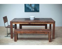 modern reclaimed wood dining table wb designs