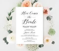 Wedding Invitation Blank Cards Bridal Shower Invitation Template Bridal Shower Invitation Blank