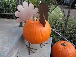 turkey pumpkins impeccable thanksgiving front door decor display remarkable orange