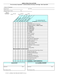 performance evaluation templates employment letter of reference