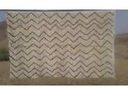 black white beni ourain rug fair trade morocco anou
