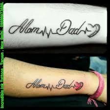 heartbeat stop tattoo momdad heartbeat tattoo mom dad heartbeat tattoos tattoos