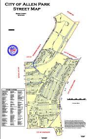 map of allen allen park michigan maps