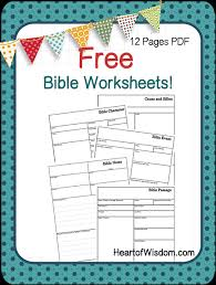 free bible worksheets of wisdom homeschool