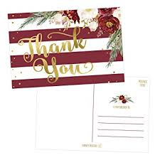 thank you postcards 25 4x6 blank christmas thank you postcards