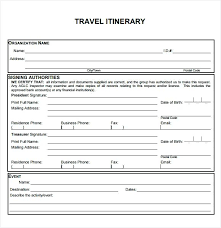 travel itinerary images Blank and printable business travel itinerary template document jpg