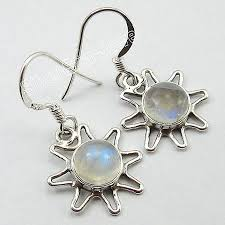 fabulous earrings fabulous blue fired rainbow moonstone earrings 2 9 cm