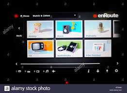 Delta Airlines Inflight Movies by Flight Entertainment Screen Stock Photos U0026 Flight Entertainment