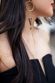 one ear earring edgy single earring fashion looks really inspires you womenitems