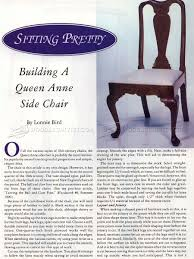 queen anne side chair plans u2022 woodarchivist