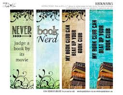 Printable Halloween Bookmarks by Bookmarks Printable Book Nerd Bookmarks Instant Download