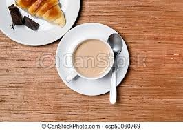 cup cuisine cup of coffee top view with croissant stock image search photos