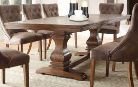 Rustic Dining Room Table Sets Solid Wood Dining Table In The Dining Room