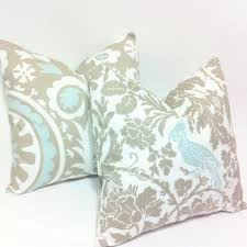 light blue accent pillows best taupe and blue decorative pillows products on wanelo