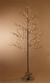 led tree gerson everlasting glow outdoor snowy 6 birch lighted tree with