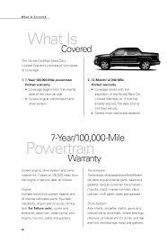 honda certified used cars warranty booklet for manassas chantilly g u2026