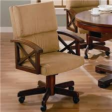 Dining Chairs With Casters Coaster Dining Chair With Casters Find A Local Furniture Store