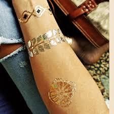 indian designs golden silver flash tribal henna