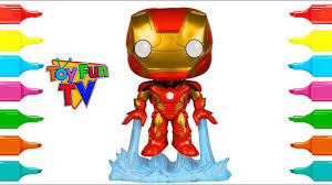 superheroes coloring ironman avengers colouring book funko