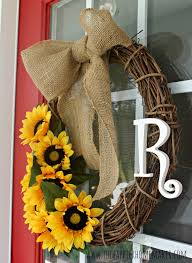 burlap sunflower wreath diy summer wreath and announcement the happier homemaker
