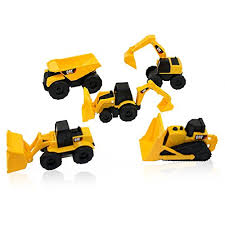 construction cake toppers cat mini machine caterpillar construction truck cars set of 5