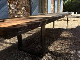 live edge outdoor table live edge garden table made from large slab 4000x 1000mm timberdeal