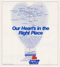 Spirit Airlines Route Map by Airline Timetables Britt Airways April 1985