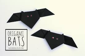 origami halloween origami bats a and a glue gun