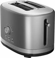 Bread Toaster Kitchenaid Kmt2116cu 2 Slice Extra Wide Slot Toaster Silver
