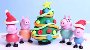 play doh peppa pig christmas tree play doh crafts xmas how to