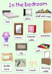 Bedroom Things Worksheet In The Bedroom Poster