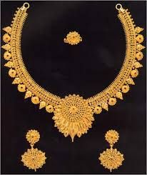 gold necklace collection images Kimtee jewellers wedding collection north indian necklaces jpg