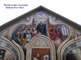thesis of martin luther photo of martin luther nailing theses to church door christian photo of martin luther nailing theses to church door