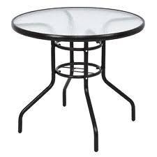Black Glass Patio Table Glass Patio Garden Tables Ebay