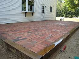 brick for patio raised brick patio home design ideas and pictures