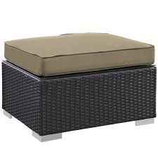 Light Brown Ottoman by Moda Outdoor Ottoman Modern Furniture U2022 Brickell Collection