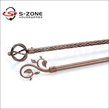 Decorative Curtain Finials Interior Decorative Curtain Rod Pipe Pole Painting Plated Iron Rod