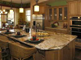 Kitchens With Island by Granite Vs Silestone Luxor Granite And Beautiful Kitchen