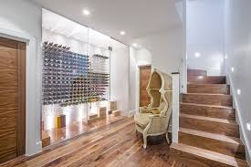 wine wall ideas wine cellar contemporary with basement staircase
