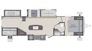 Rear Kitchen Rv Floor Plans 2018 Keystone Premier 34bhpr Model