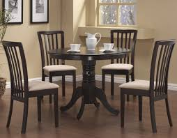 Black Wooden Dining Table And Chairs Recent Brown Wood Montrose Abstract Motif Chairs Top Glass Table