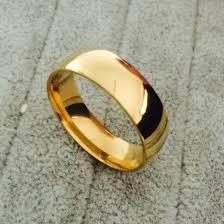 finger gold rings images Classic wide 8mm men wedding gold rings real 18k gold filled 316l jpg