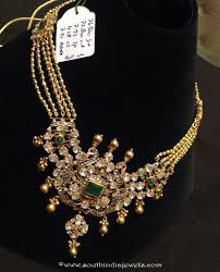 long gold ball necklace images Gold ball haram with weight details south india jewels jpg