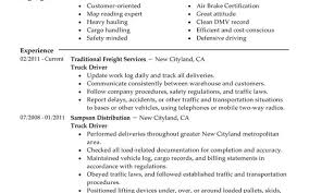 Truck Driver Resume Example Cosy Otr Truck Driver Resume Sample Also Beautiful Forklift Driver